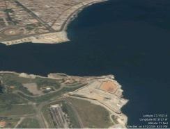 Havana harbor entrance - Virtual Earth