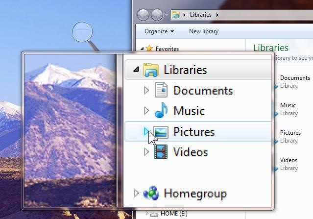 how to delete magnifier in windows 7