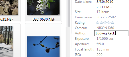 Metadata Adding Information With Windows Live Photo Gallery