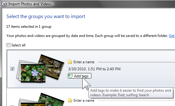 Metadata: Adding information with Windows Live Photo Gallery (1/6)