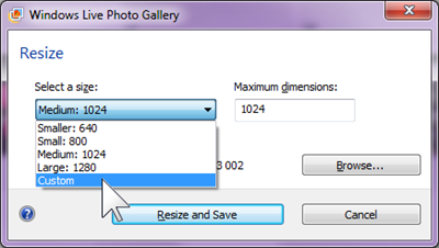 Batch file-type conversion using Windows Live Photo Gallery (3/5)
