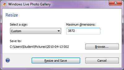 Batch file-type conversion using Windows Live Photo Gallery (4/5)