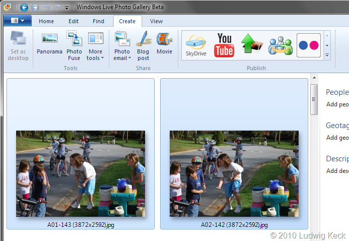 Photo Fuse Windows Live Photo Gallery Beta Wave 4 This N That