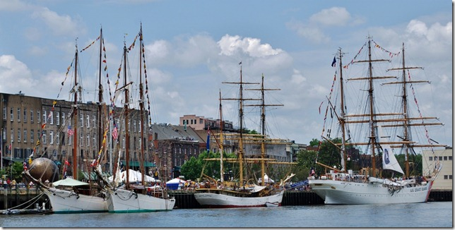Four Tall Ships at River Street