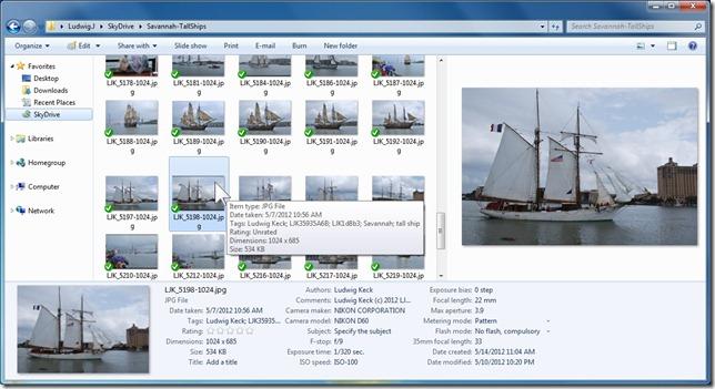 SkyDrive files in desktop app