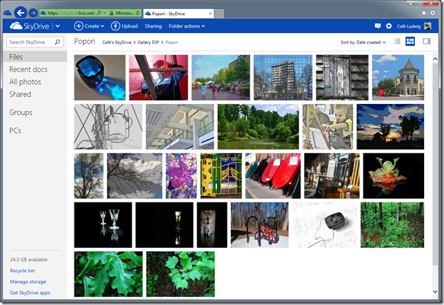 SkyDrive folder