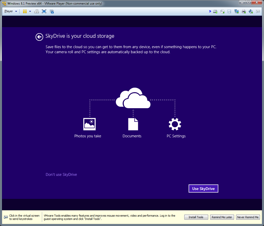 Installing Windows 8 1 Preview In A Vmware Player Virtual