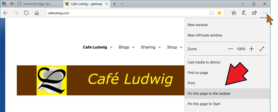 Pin Website to Taskbar